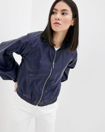 Кожаная куртка - синяя Rinascimento