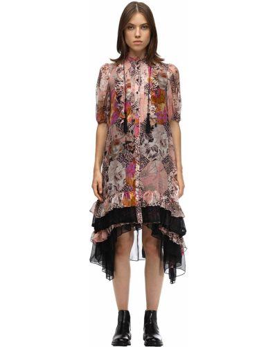 Платье миди на пуговицах со вставками Coach