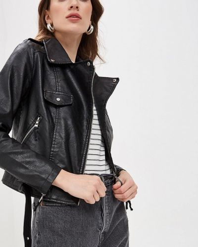 Кожаная куртка черная весенняя Softy