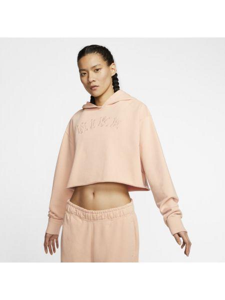Frotte miękki brązowy bluzka zabytkowe Nike