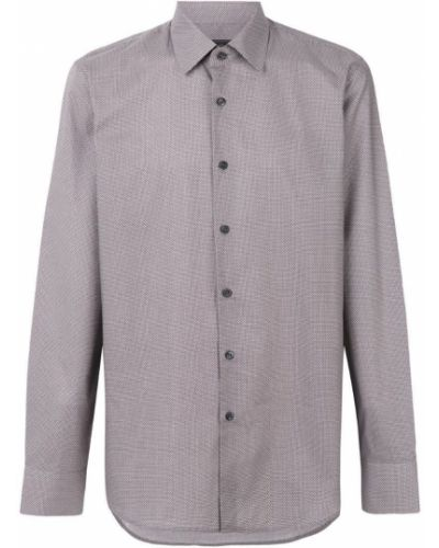 Рубашка хлопковая с узором Prada