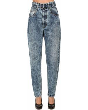 Пляжные джинсы с высокой посадкой с манжетами с карманами Maison Margiela