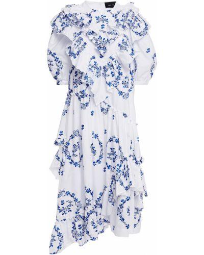 Хлопковое платье миди - белое Simone Rocha