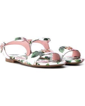 Белые сандалии Dolce & Gabbana Kids