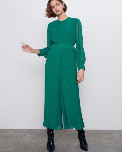 Зеленый комбинезон с длинными рукавами Zara