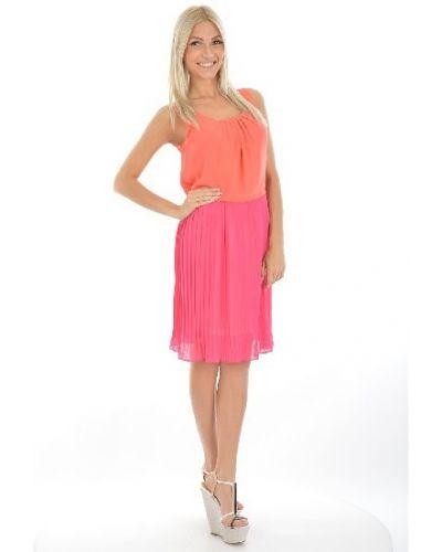 Платье из вискозы - оранжевое Suncoo