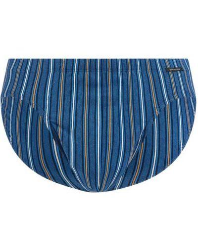 Niebieskie majtki bawełniane Schiesser