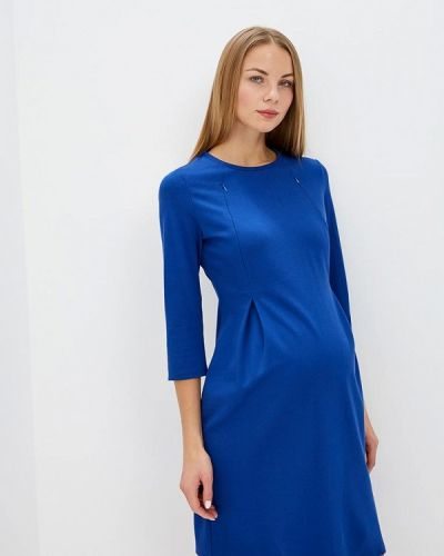 Синее платье осеннее Mammysize