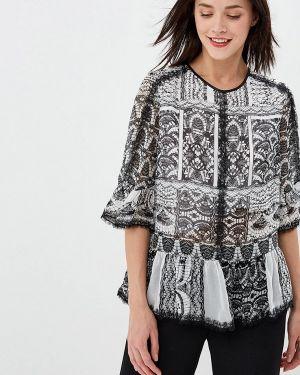 Блузка с рюшами серая Lusio
