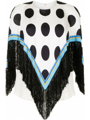 Ponczo - biały Dolce & Gabbana Pre-owned