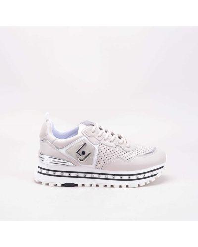 Beżowe sneakersy skorzane Liu Jo