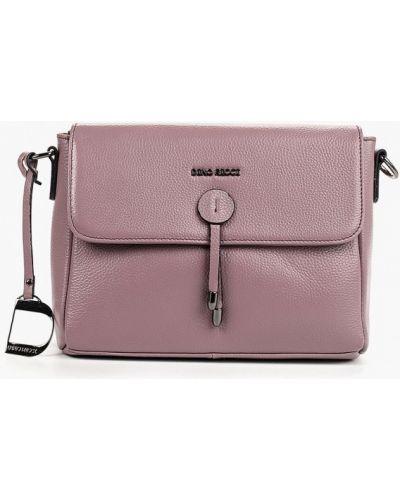 Кожаная сумка через плечо фиолетовый Dino Ricci