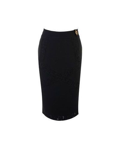 Черная юбка миди Class Cavalli