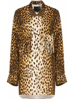 Рубашка из вискозы - коричневая R13