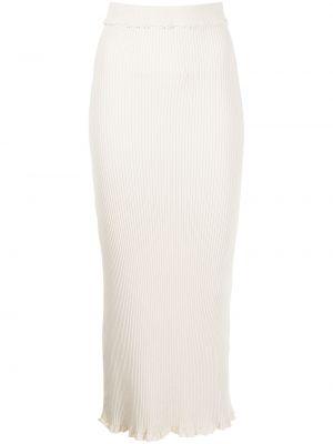 Трикотажная белая юбка с оборками Altuzarra