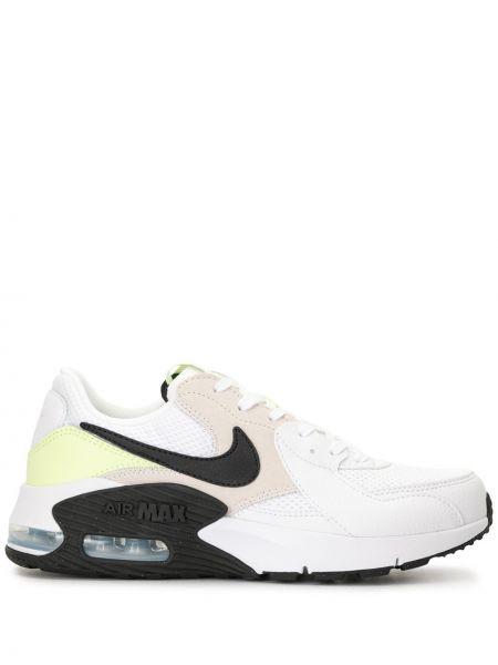 Biały sneakersy na sznurowadłach z łatami na pięcie Nike