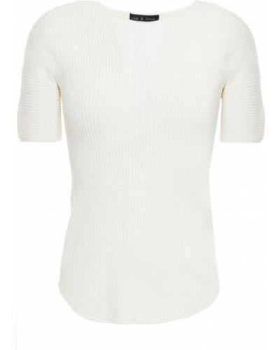 Biały prążkowany top z wiskozy Rag & Bone