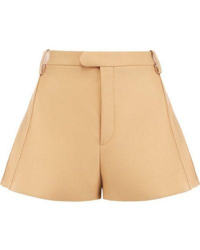 Бежевые короткие шорты Chloé