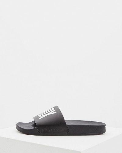 Черные сандалии кожаные Town