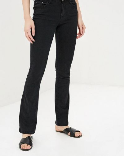 Широкие джинсы расклешенные черные Miss Bon Bon