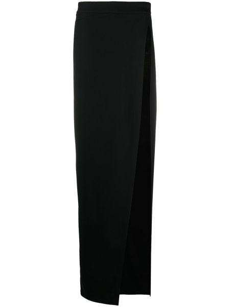 Шерстяная юбка макси - черная Ann Demeulemeester