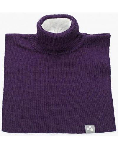 Фиолетовый шарф с воротником Huppa
