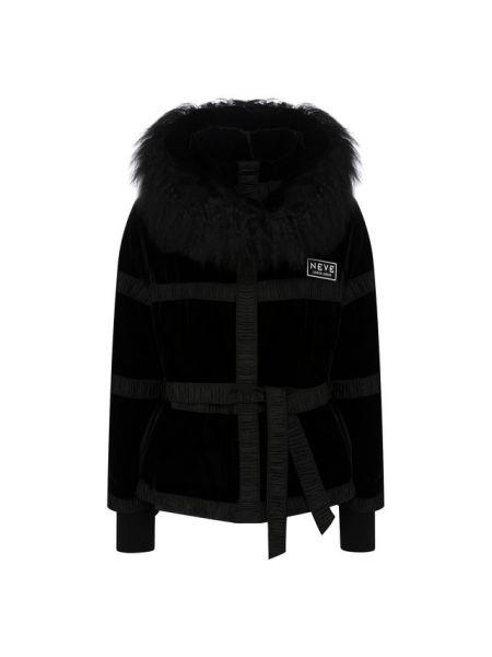 Шелковая куртка с поясом с воротником с декоративной отделкой Giorgio Armani