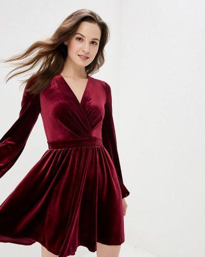 Вечернее платье бордовый весеннее Gepur