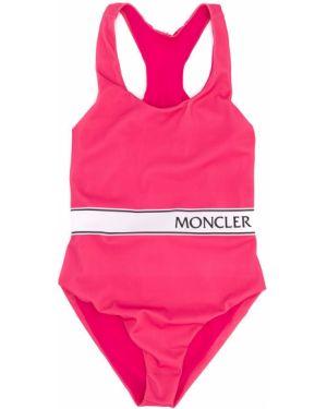 Różowy garnitur bez rękawów Moncler Kids