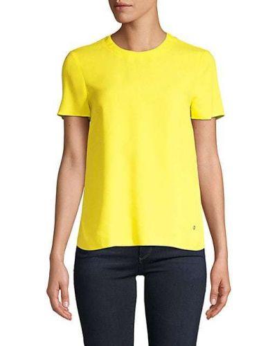 Повседневный желтый топ с короткими рукавами Versus Versace