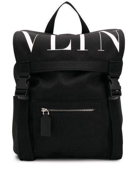 Czarny plecak klamry Valentino