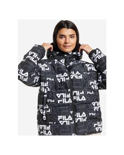 Утепленная куртка - черная Fila