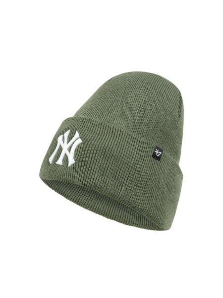 Miękki zielony czapka baseballowa z paskami '47
