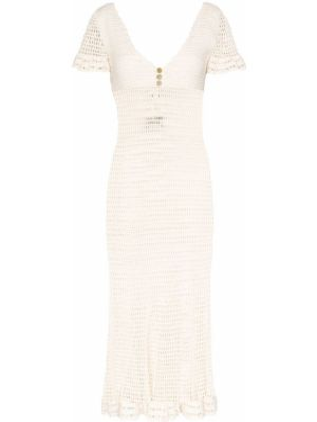 Нейлоновое приталенное платье миди свободного кроя с вырезом She Made Me