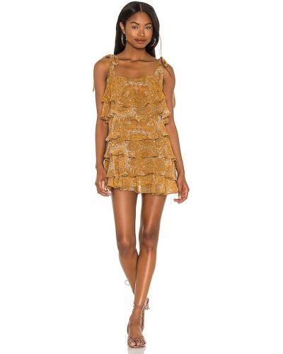 Золотистое желтое платье с подкладкой Show Me Your Mumu