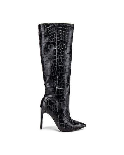 Ботинки на каблуке из крокодила Raye