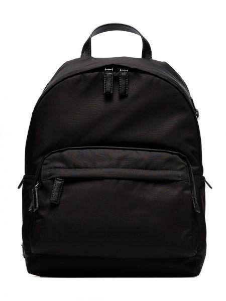 Klasyczny czarny plecak z nylonu Prada