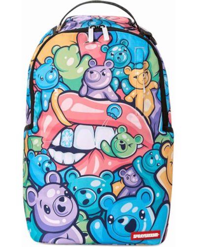 Z rękawami włókienniczy plecak na paskach z kieszeniami Sprayground