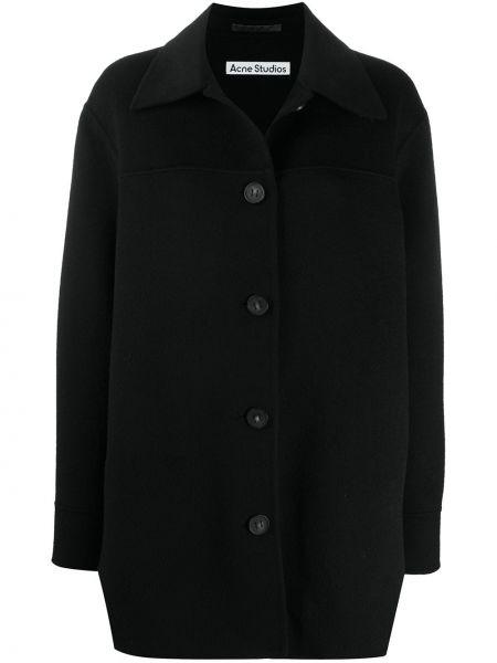 Шерстяной черный пиджак оверсайз Acne Studios