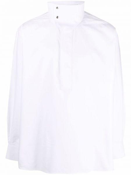 Biała koszula z haftem - biała Givenchy