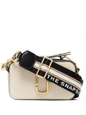 Torba na ramię skórzana - biała Marc Jacobs