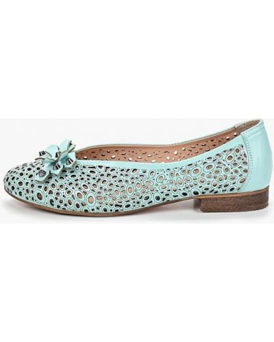 Туфли на каблуке кожаные бирюзовый O`shade
