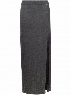 Шерстяная юбка макси - серая Blugirl