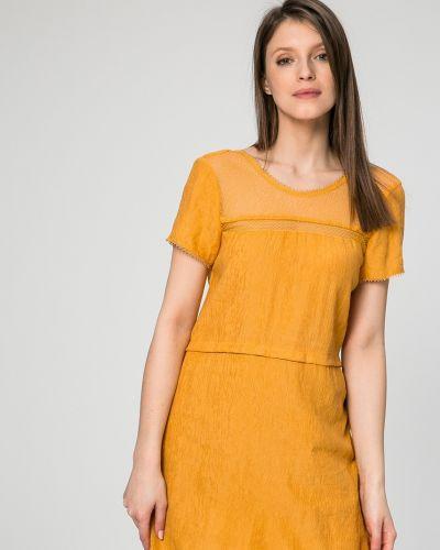 Платье мини однотонное с рукавами Answear