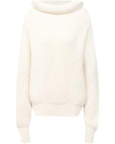 Шерстяной белый свитер Escada