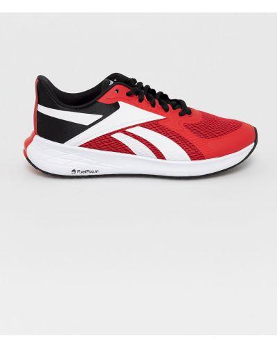 Czerwone sneakersy sznurowane Reebok