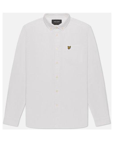Хлопковая белая оксфордская рубашка Lyle & Scott