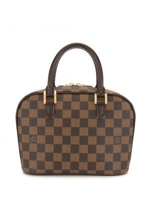 Золотистая коричневая кожаная сумка-тоут Louis Vuitton