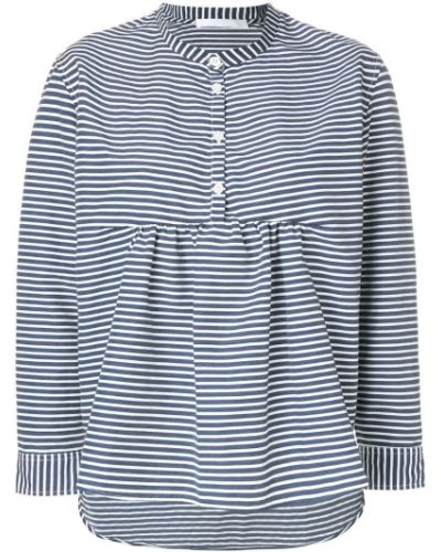 Рубашка в полоску без воротника Peter Jensen