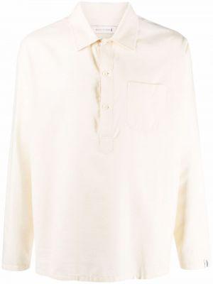 Рубашка с длинным рукавом милитари - белая Mackintosh